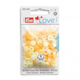 Prym Love 9mm Druckknopf 36 Stück  /'Color Snaps/' Mini hellblau  393501