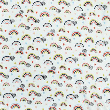 Shirt elastisch Baumwoll-Jersey-Druck Jersey Punkte lila Tupfen dehnbar