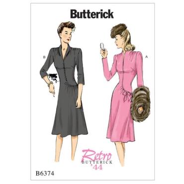 32-48 Schnittmuster Butterick 5708 süßes Vintagekleid Gr