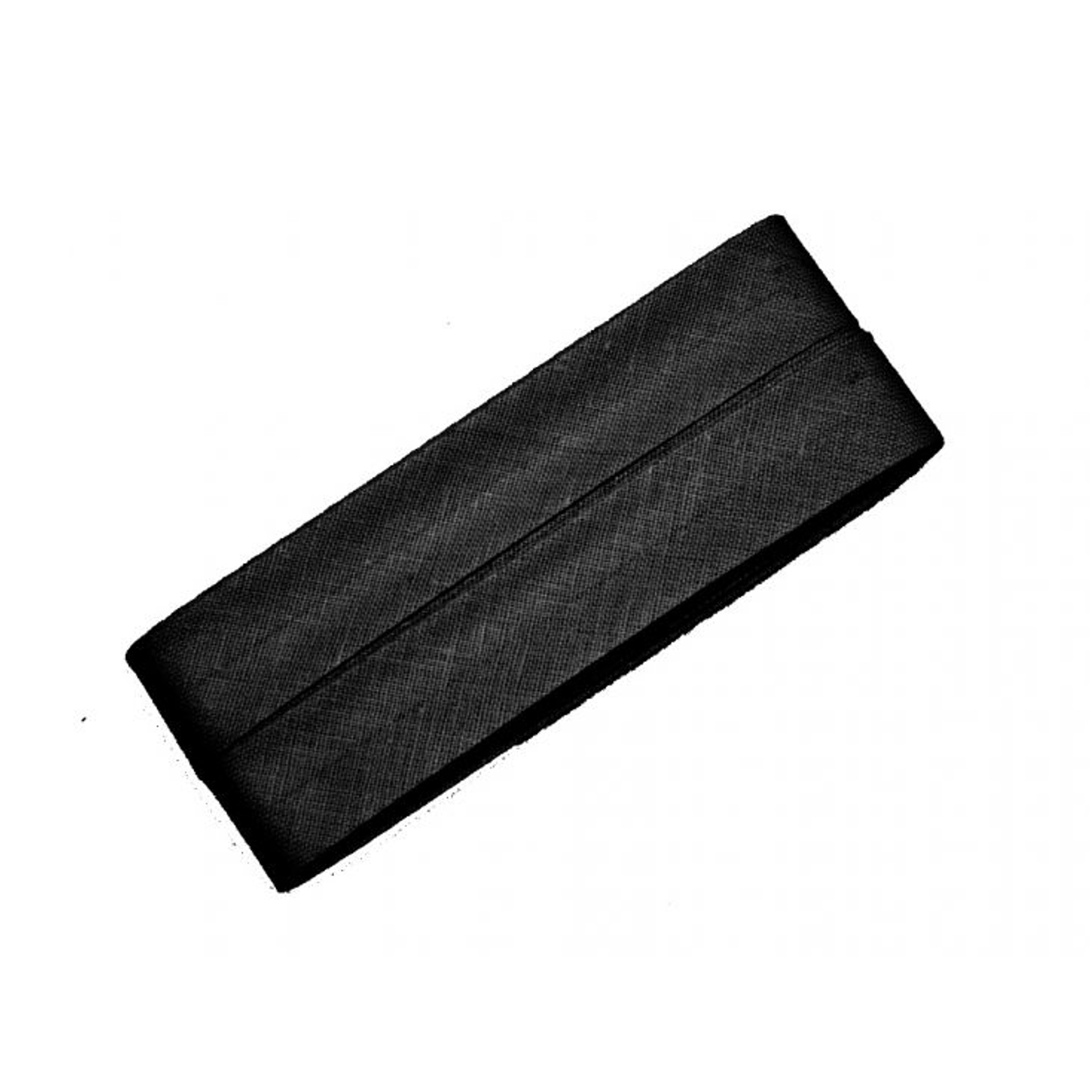 5 m Cotton bias binding black (000)