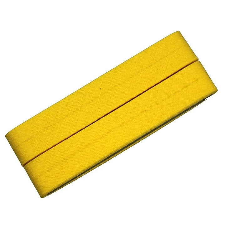 5 m Cotton bias binding yellow (643)