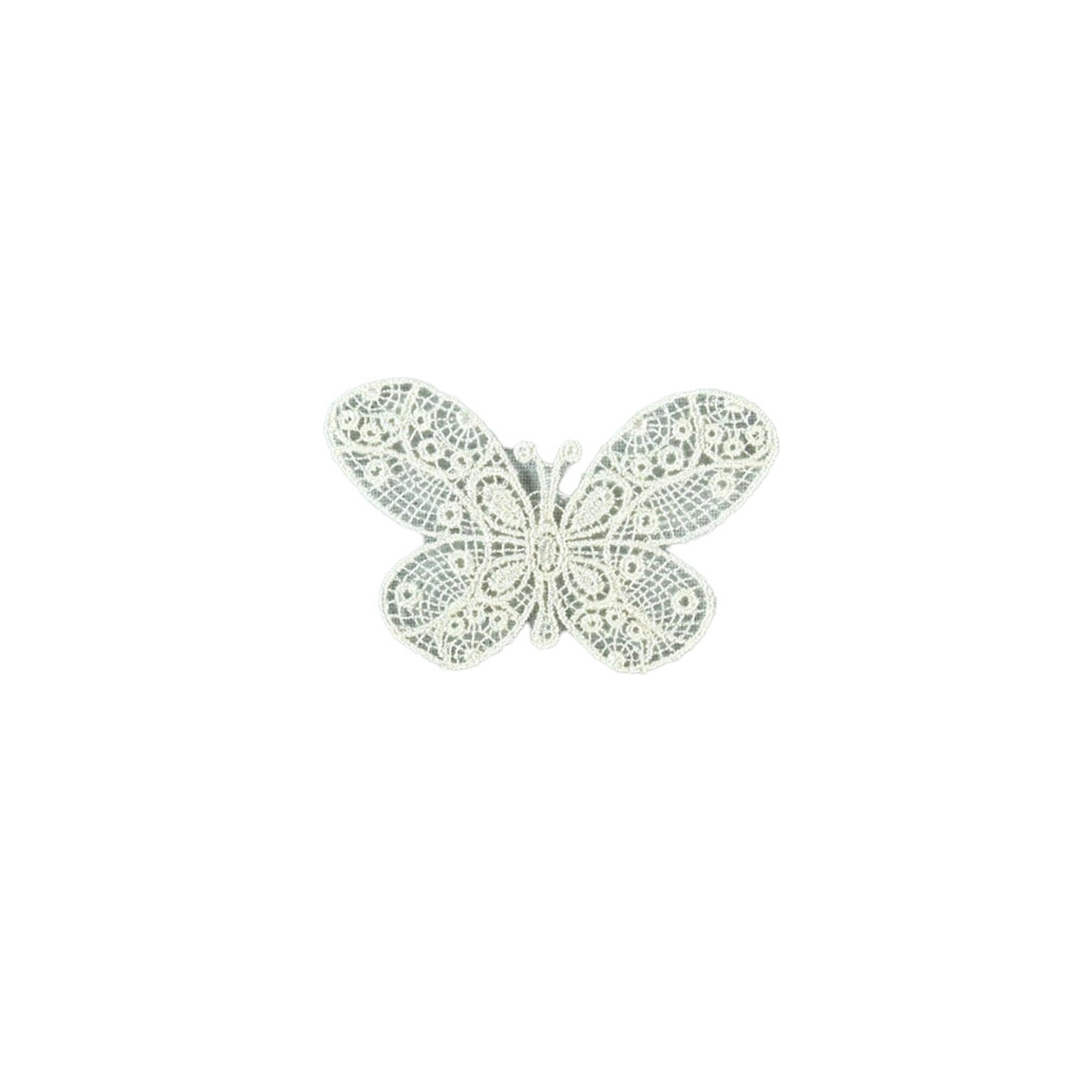 Appliques Butterfly, lace, off-white