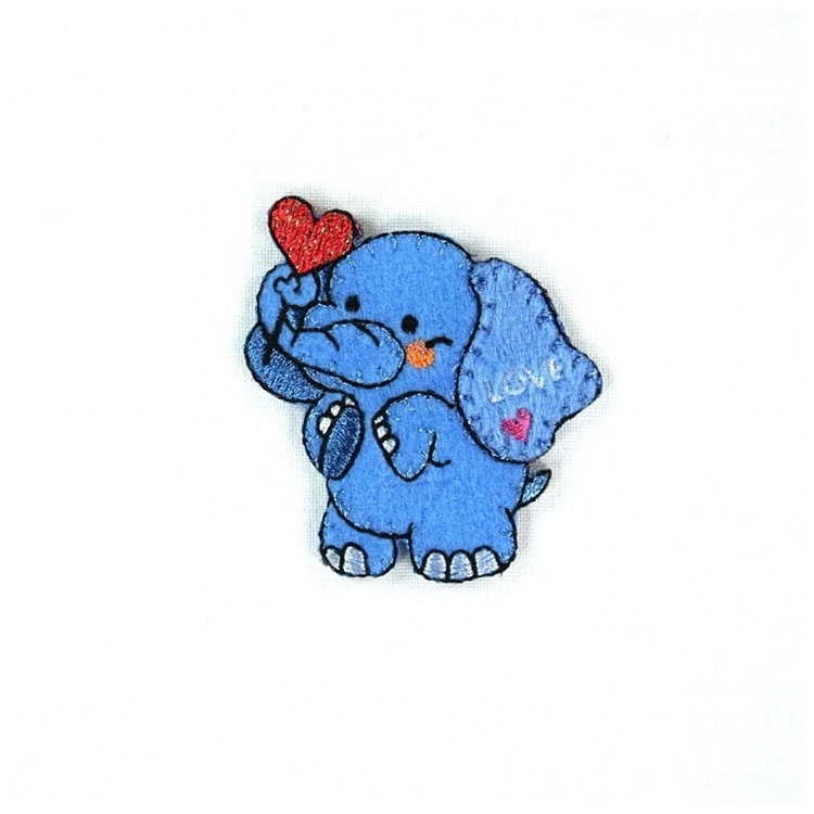 Appliques elephant in love