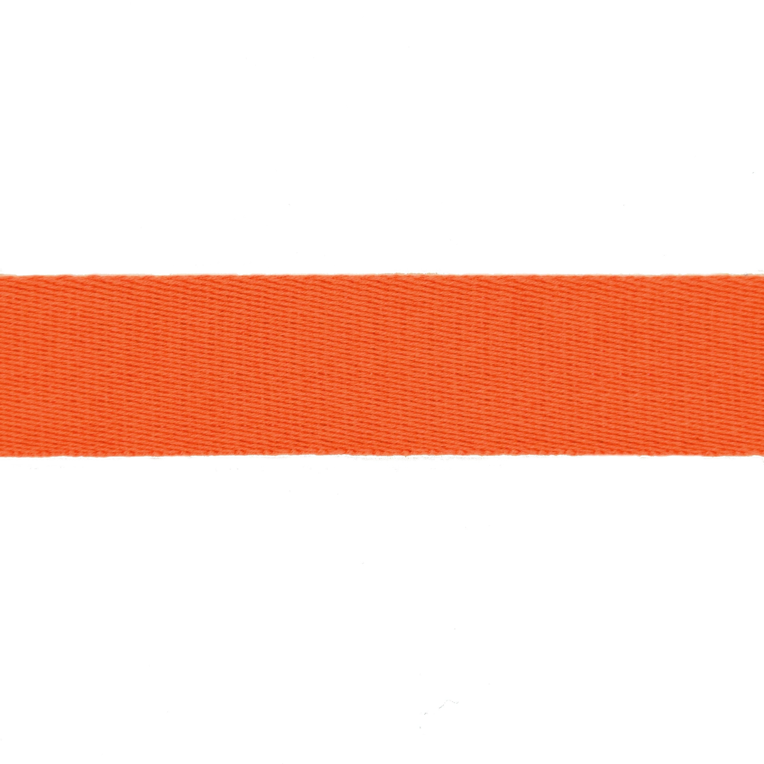 Baumwoll-Gurtband uni orange 38 mm