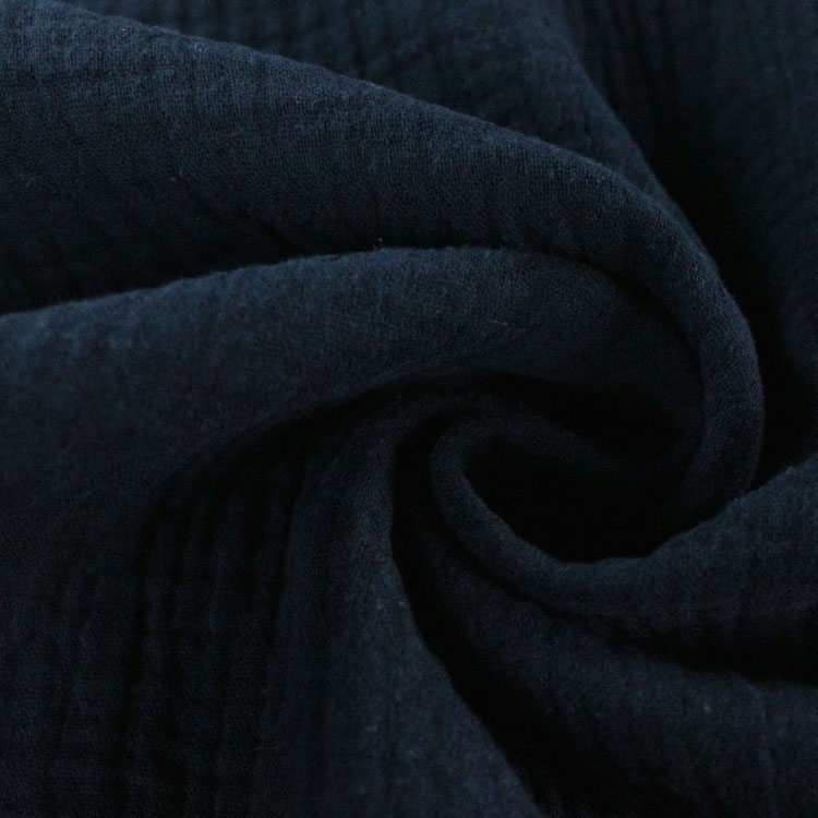 Cotton muslin double gauze, dark blue