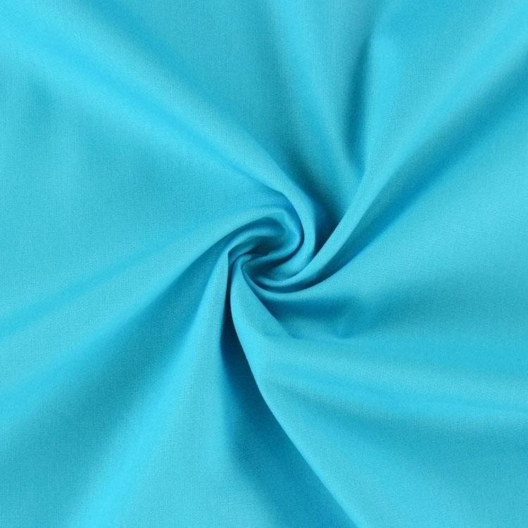 Popeline in Blau