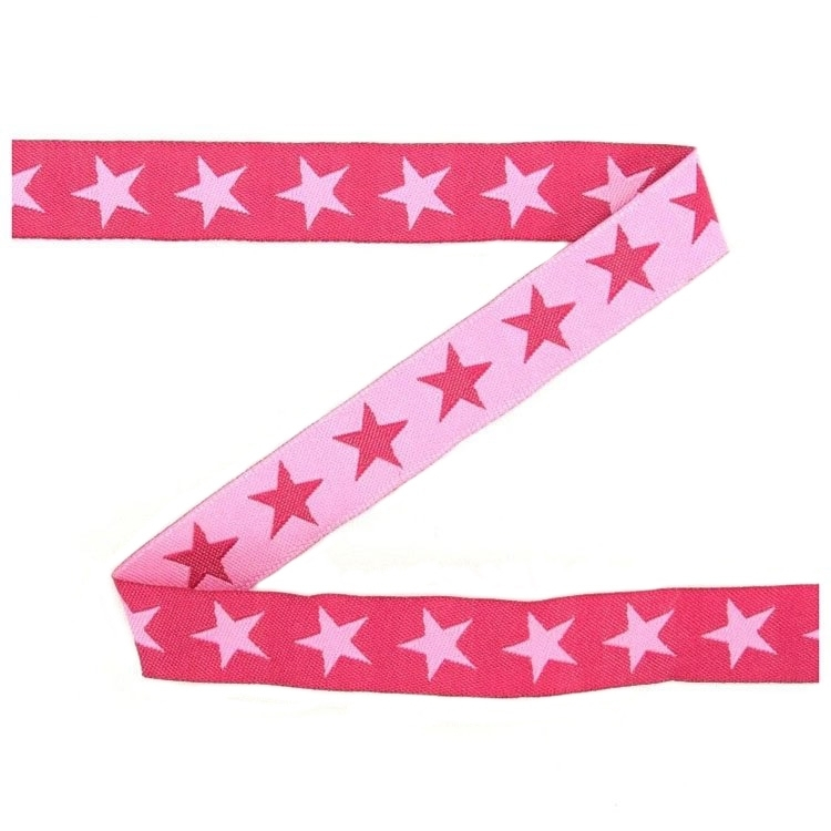 Cotton ribbon stars, fuchsia