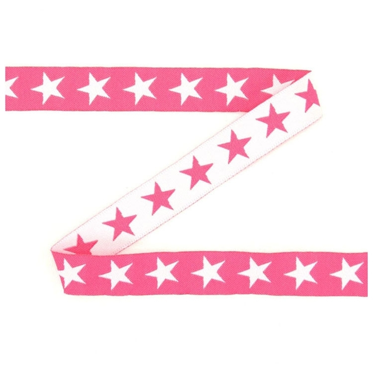 Cotton ribbon stars pink