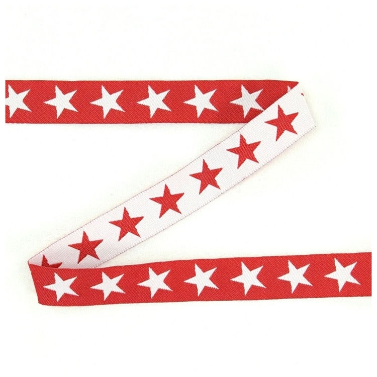 Cotton ribbon stars red