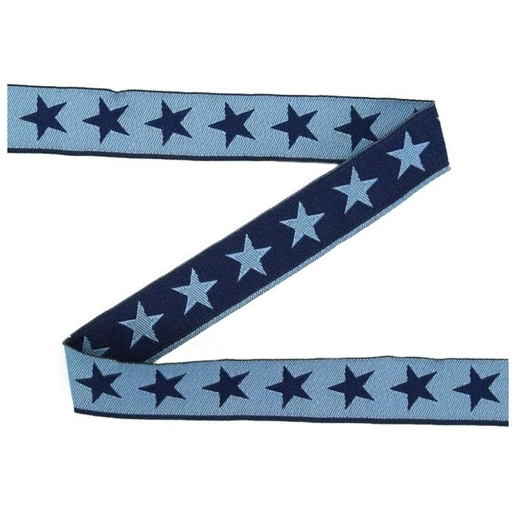 Cotton ribbon stars, blauwgrijs