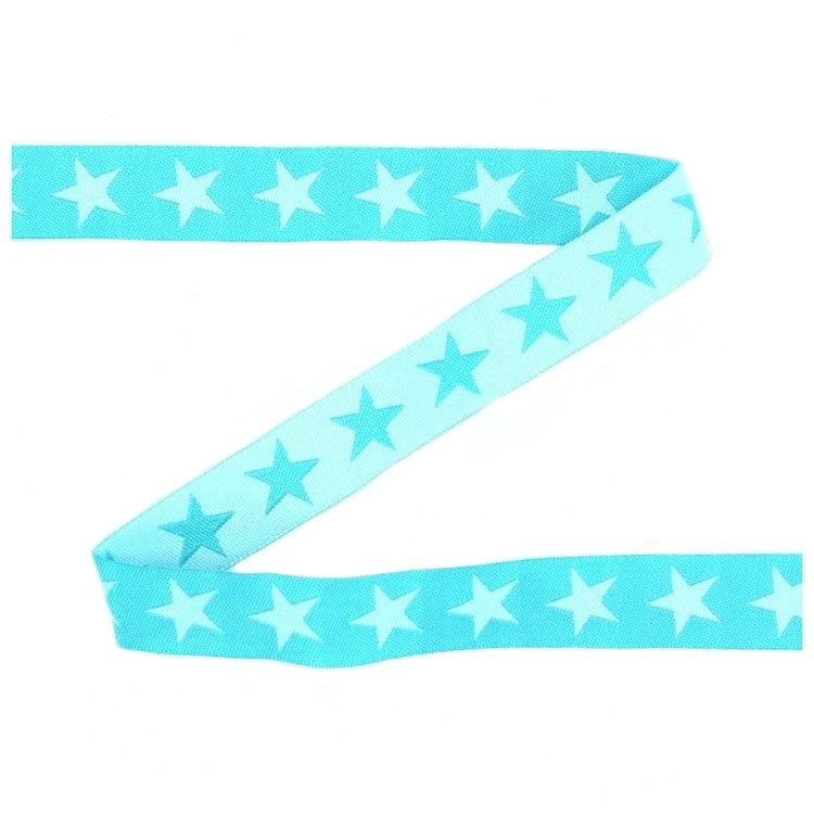 Cotton ribbon stars, turquoise