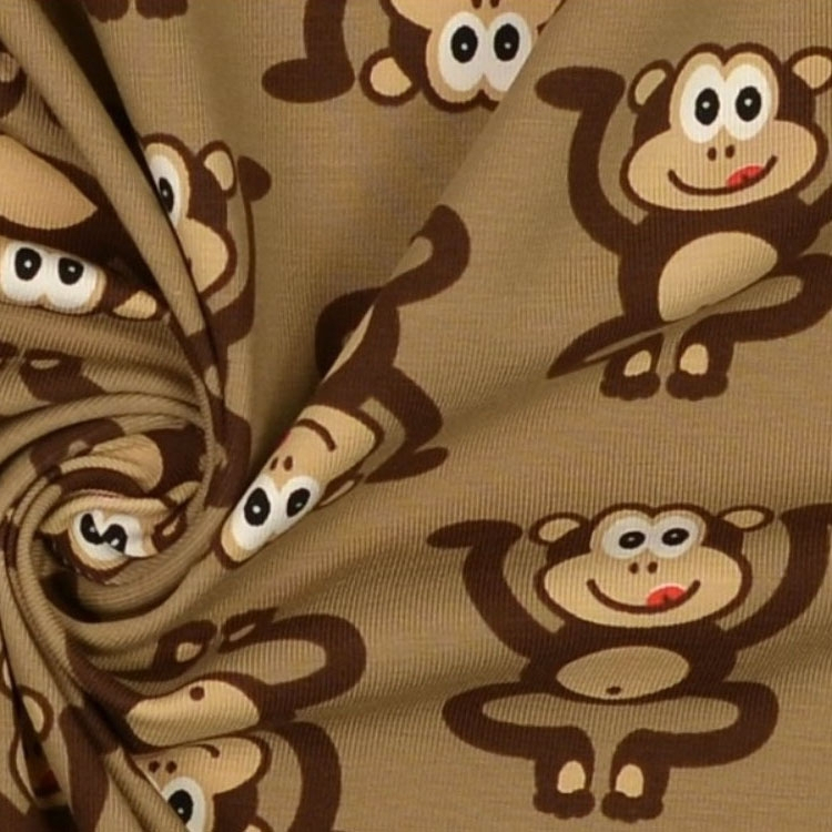 Cotton Jersey Monkey 2 | 547.321-7003 | braun
