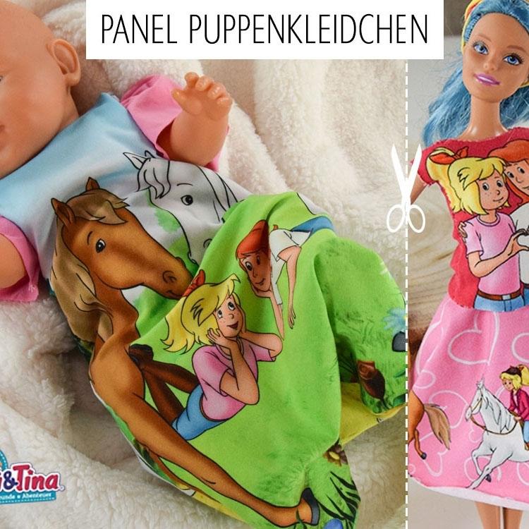 Baumwolljersey Bibi & Tina Panel Puppenkleidung | stoffe-hemmers.de