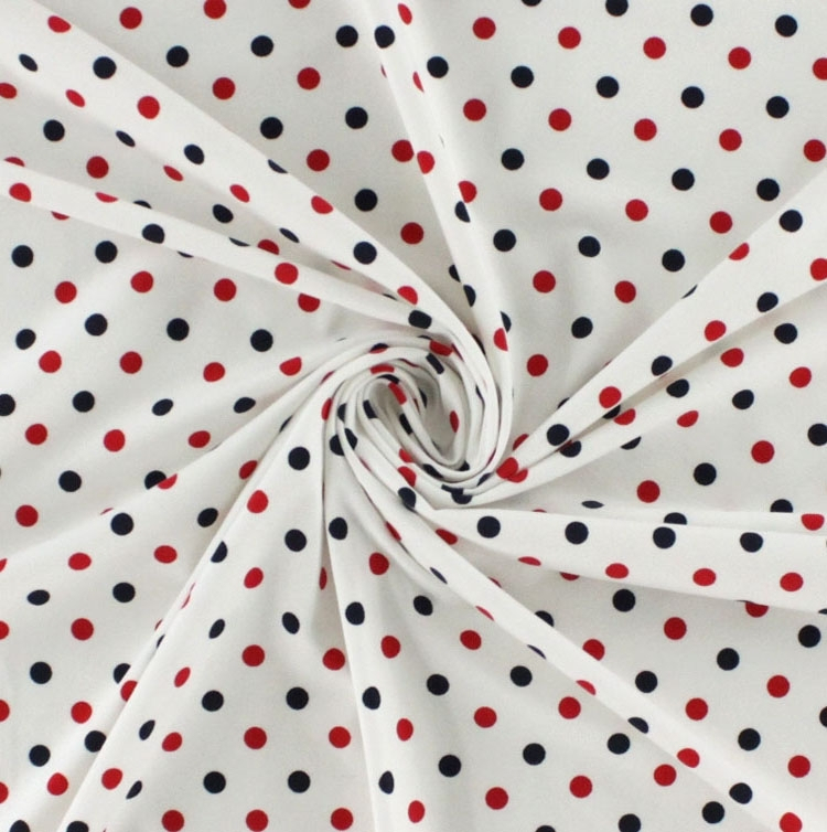 Cotton Jersey Dots, white-red-navy