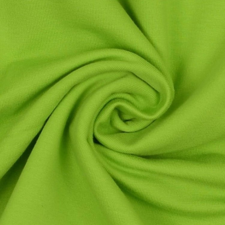 Stretch katoen French Terry uni, lime