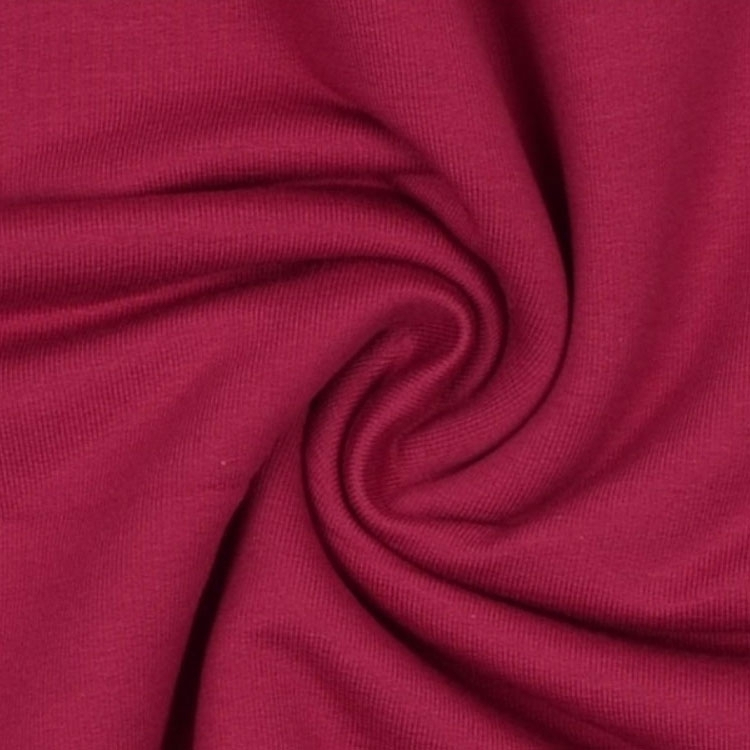 Cotton Jersey French Terry uni, magenta