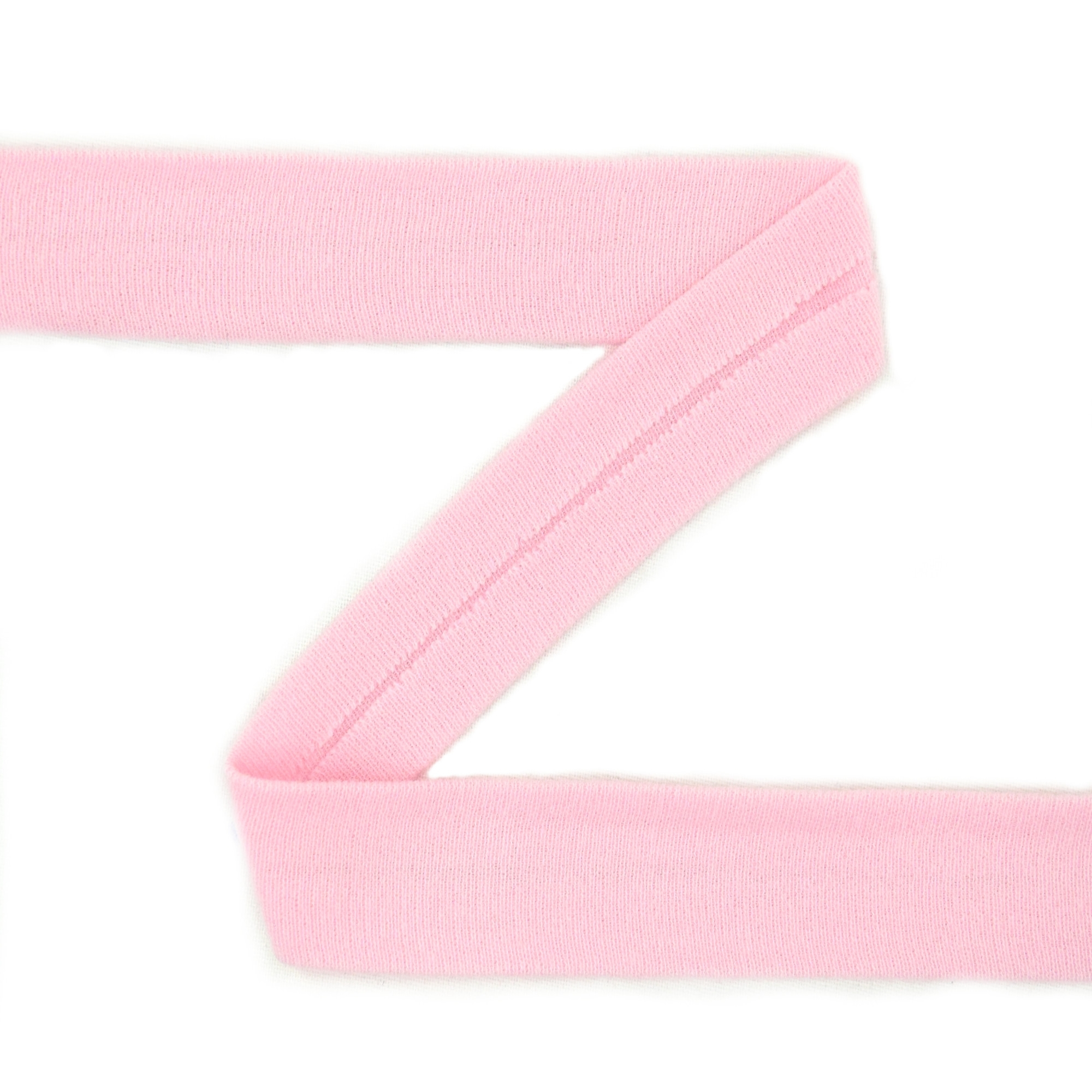 Cotton jersey-bias tape, light pink | 42731 | rosa