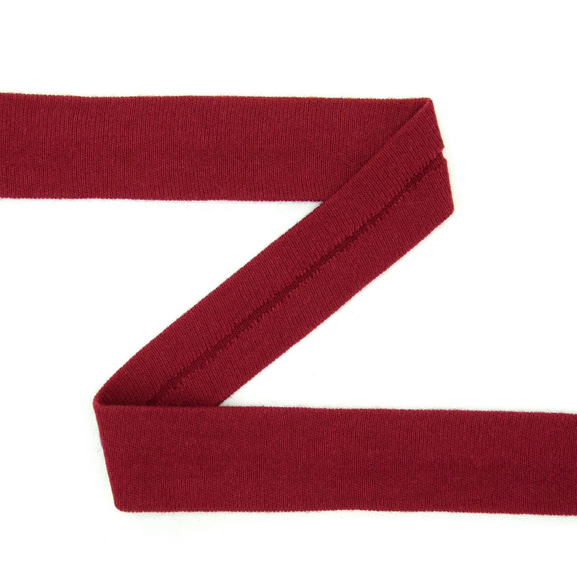 Cotton jersey-bias tape, dark red | 42729 | rot