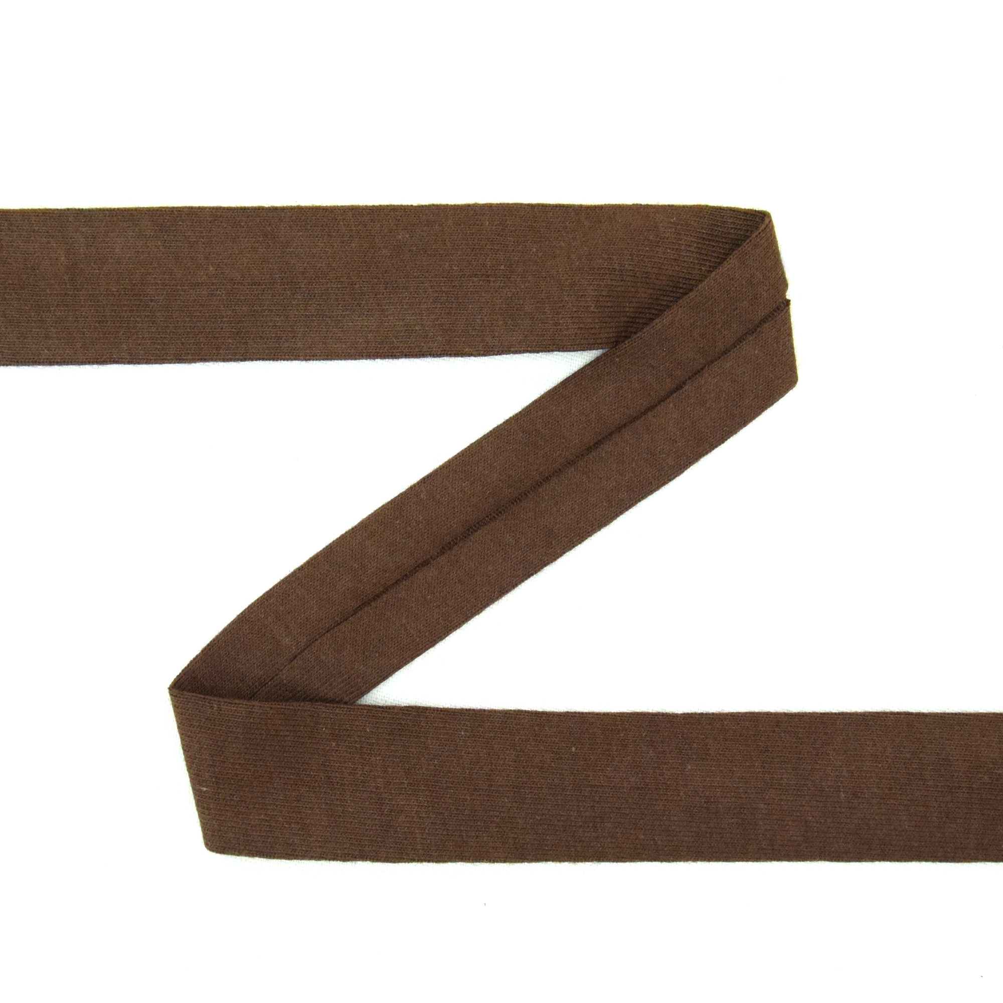 Cotton jersey-bias tape, brown | 1847-56 | braun