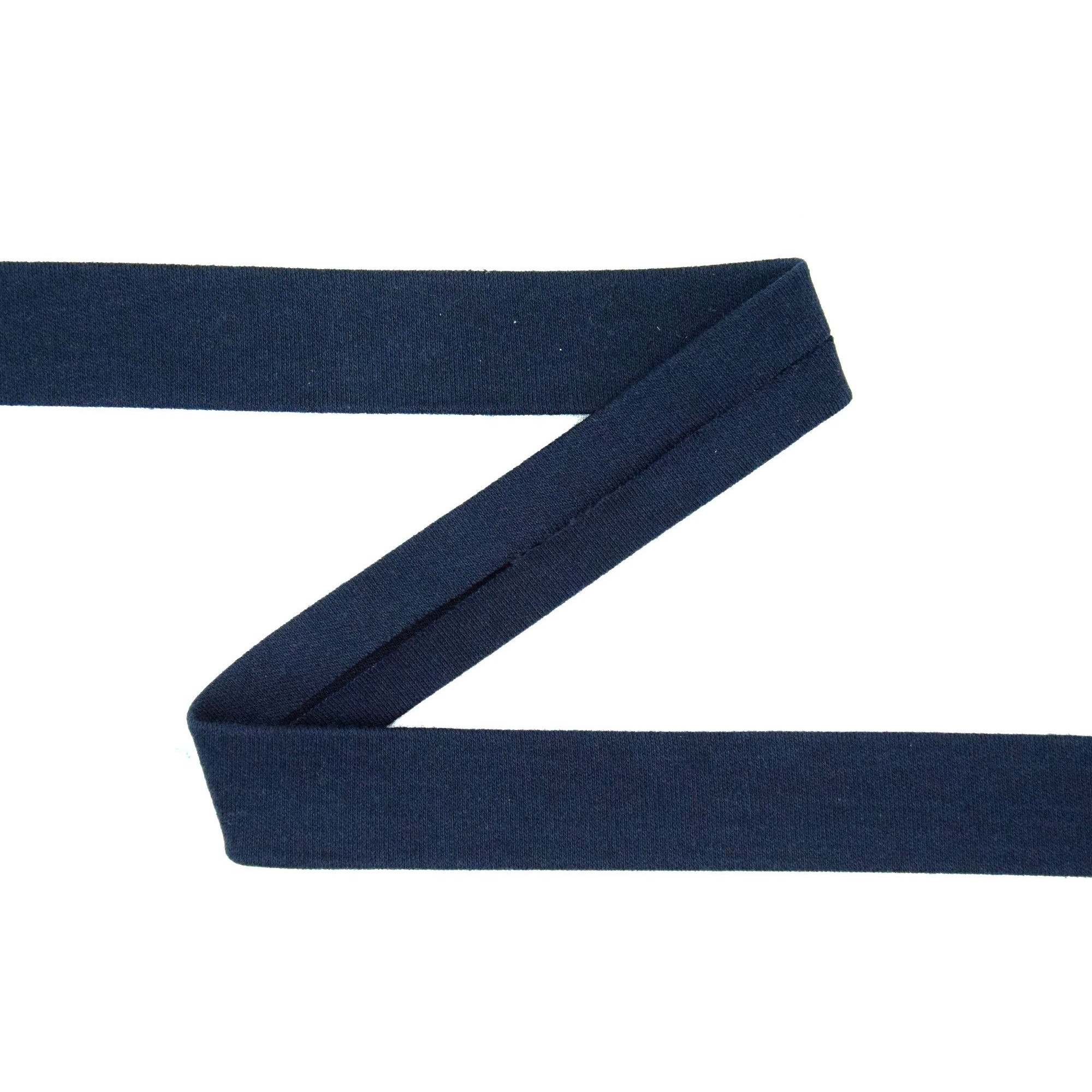Bias binding stretch cotton, dark blue | 42740 | blau