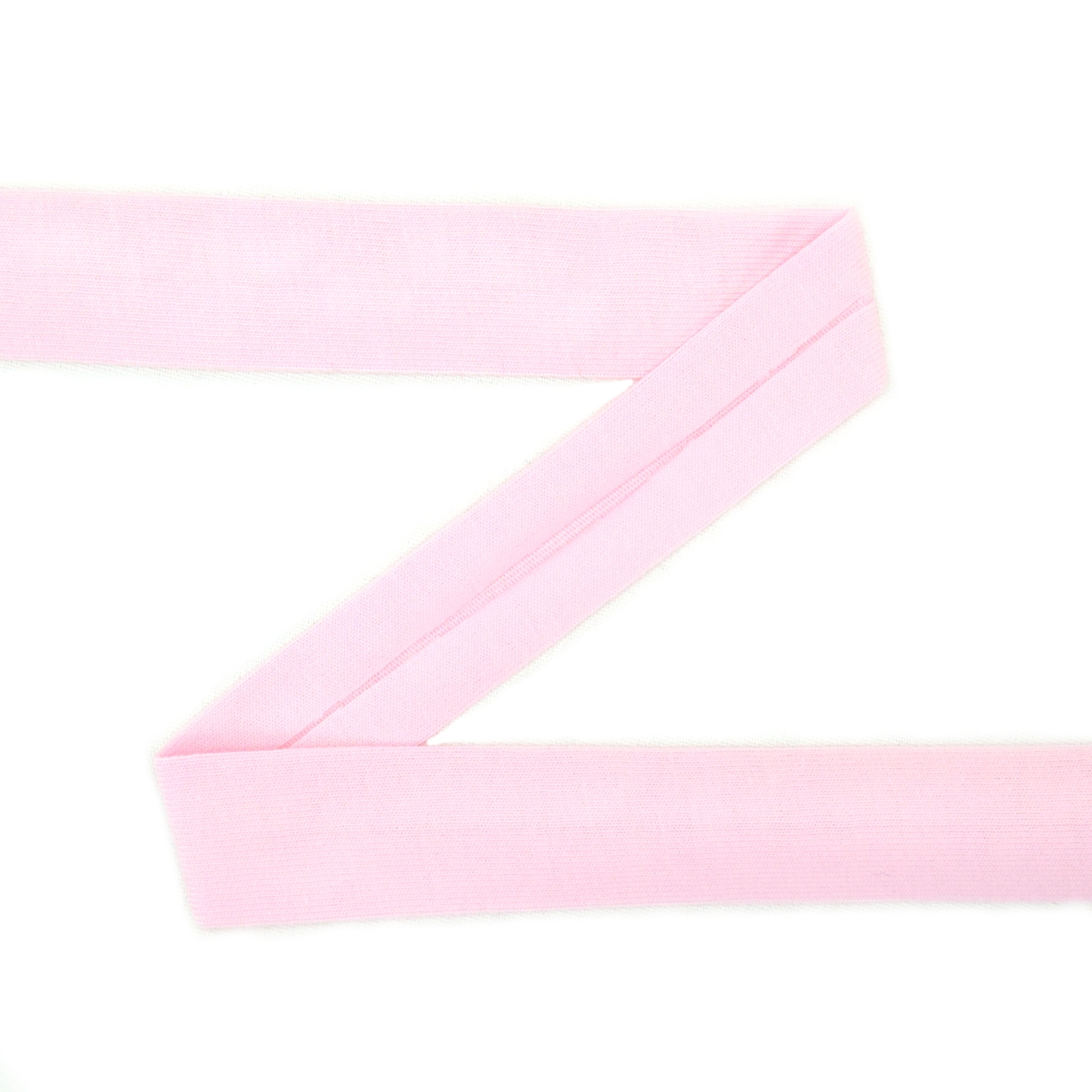 Cotton jersey-bias tape, pink