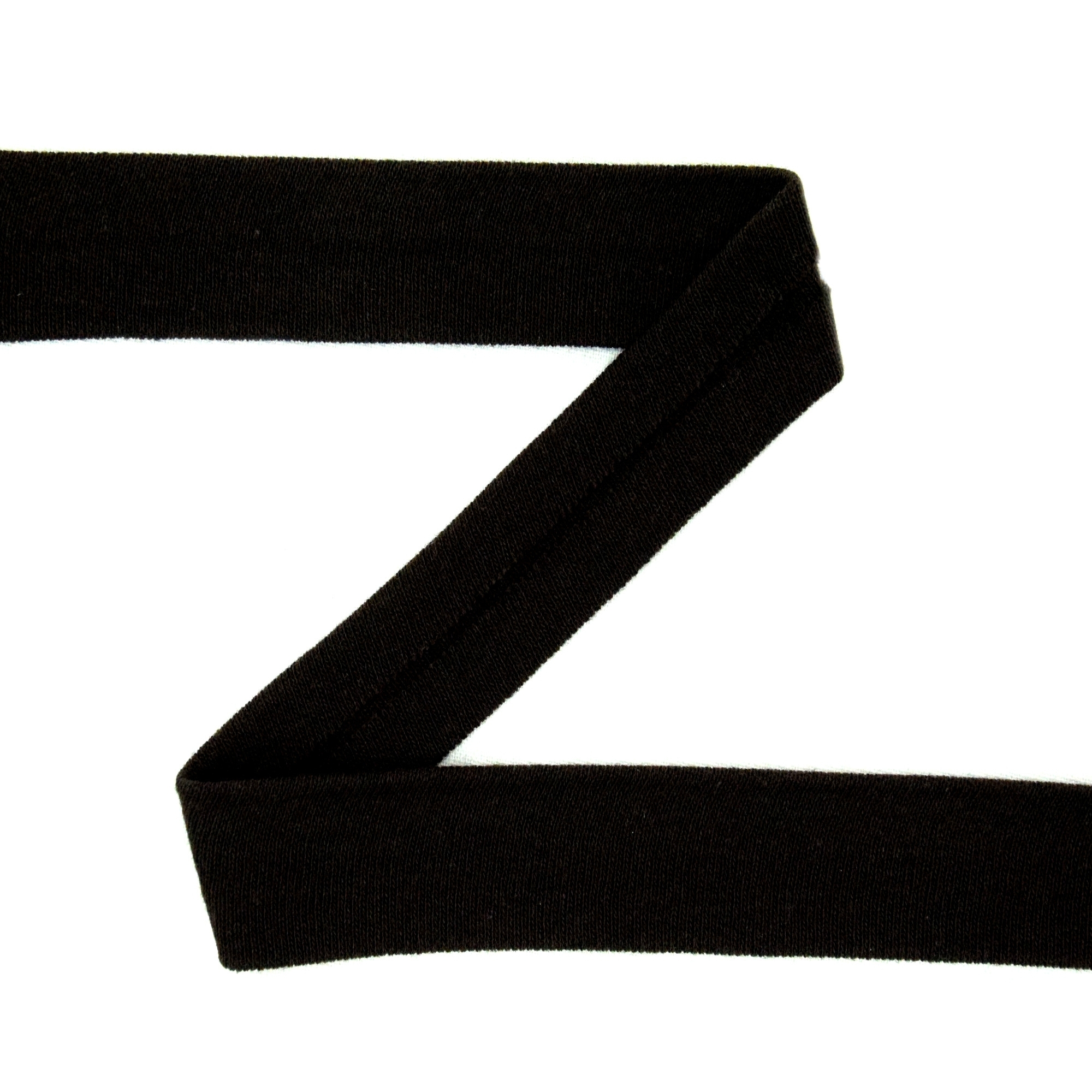 Cotton jersey-bias tape, black | 42734 | schwarz
