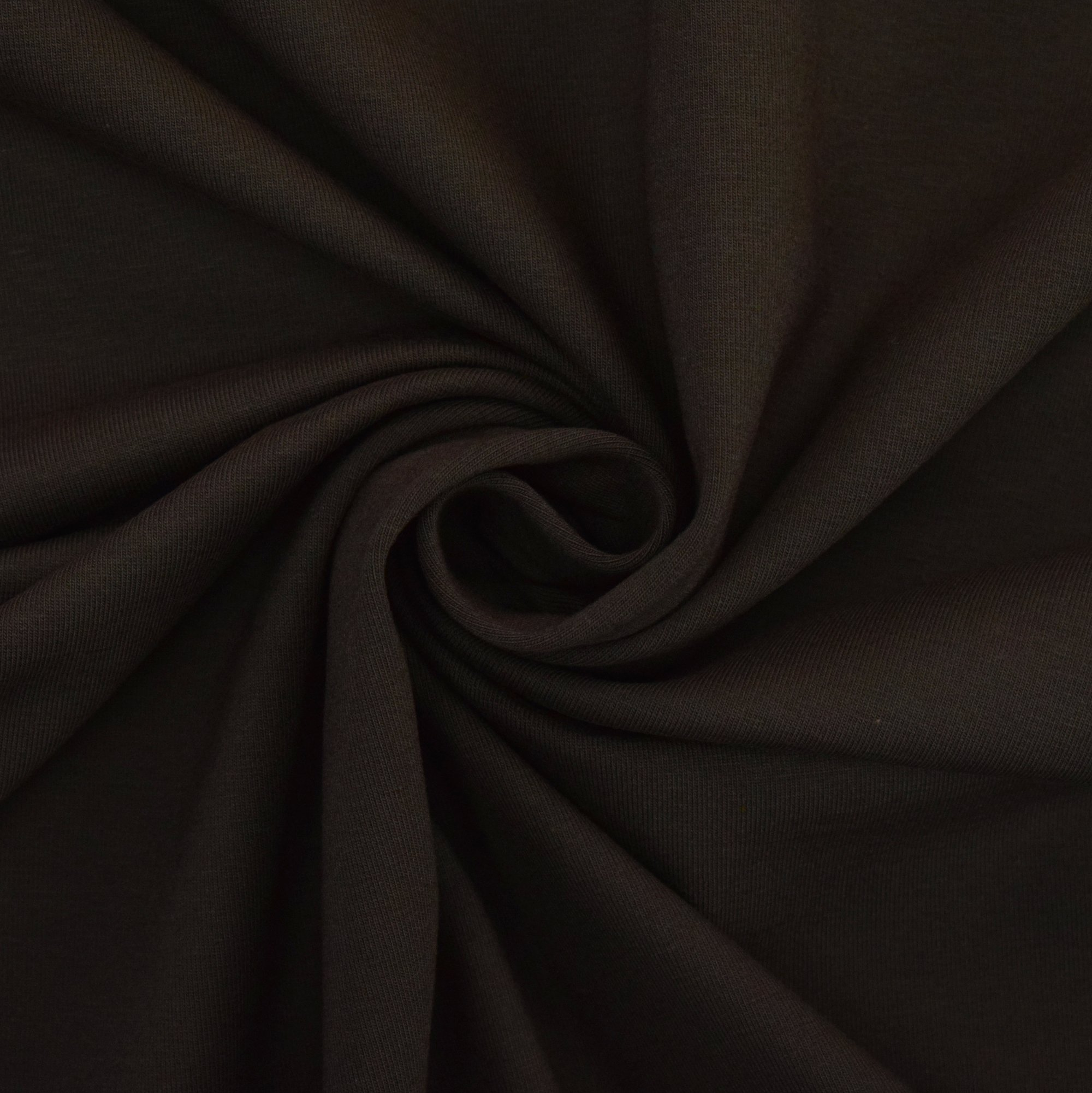 Cotton jersey plain, dark brown