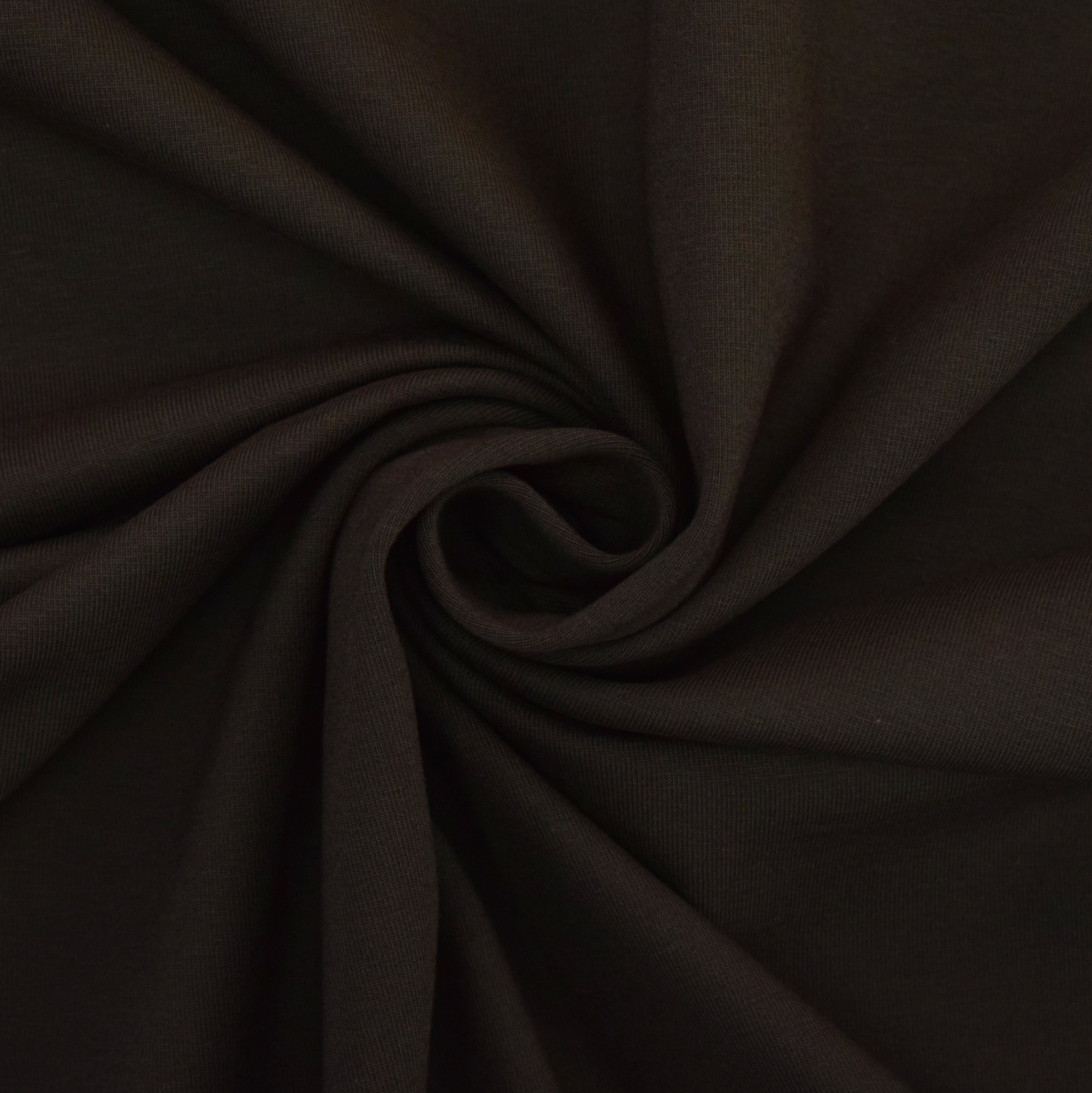 Cotton jersey plain, dark brown | 455.421-7005 | braun