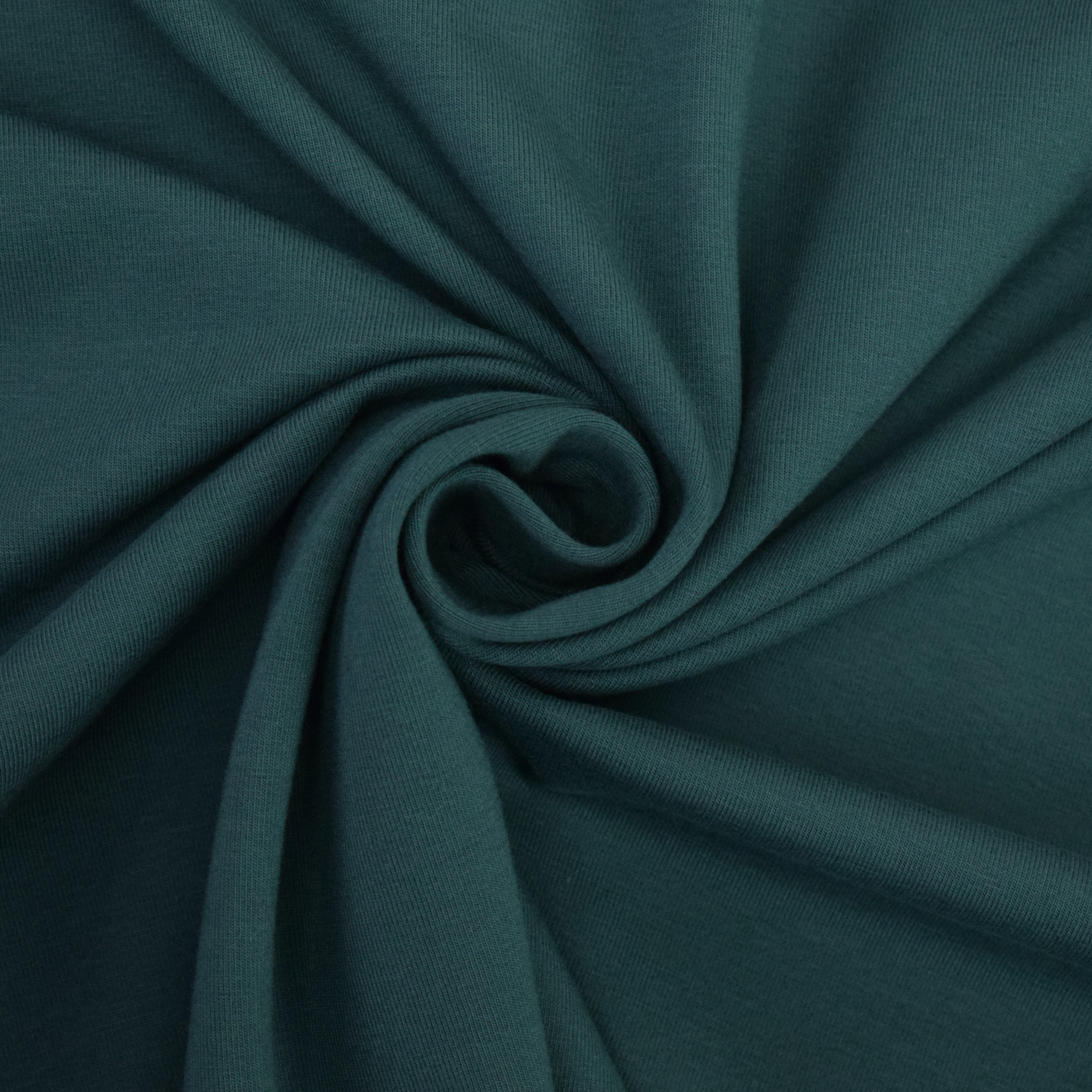 Cotton jersey plain, dark teal | 124.554-3485 | petrol