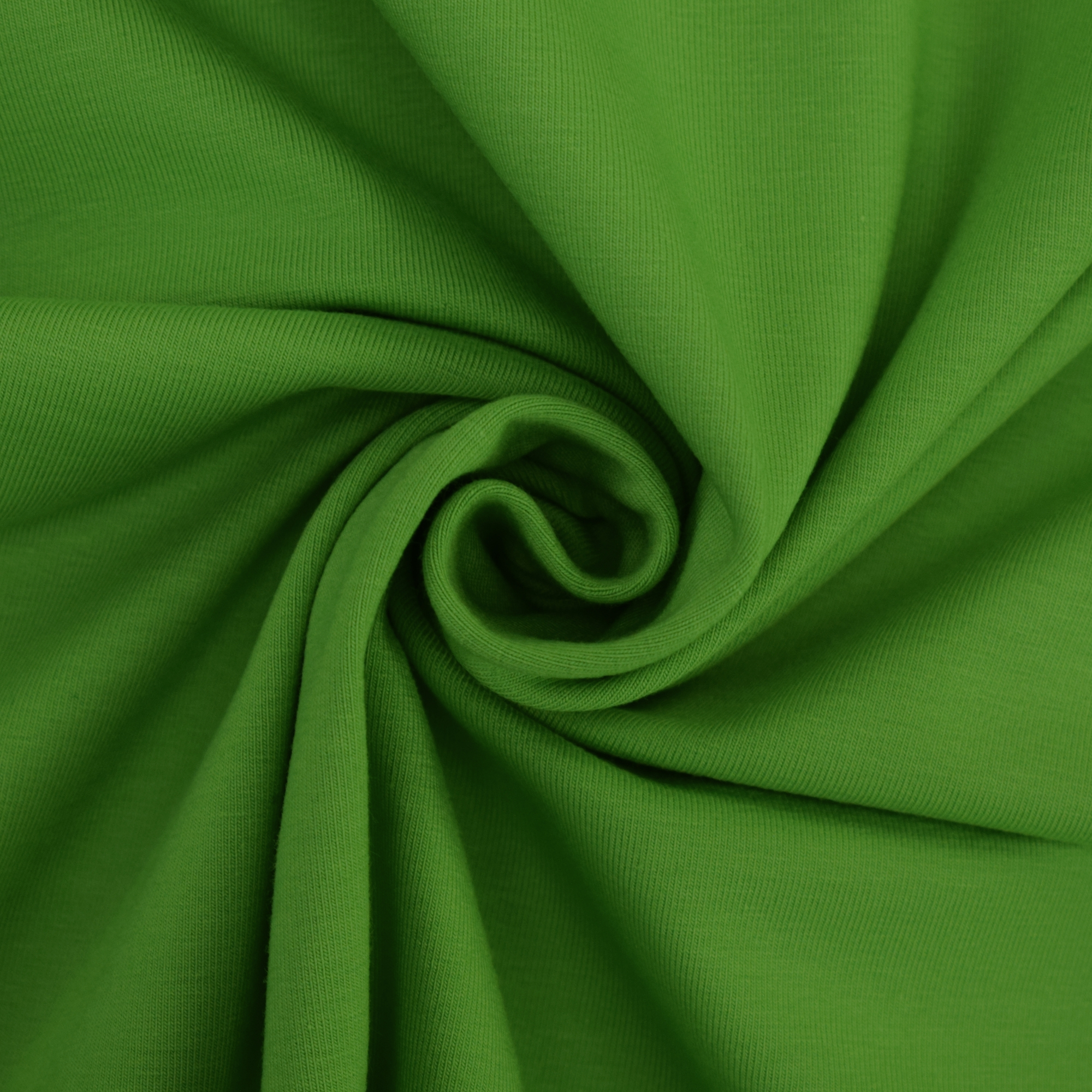 Cotton jersey plain, grass green | 455.421-5305 | grün
