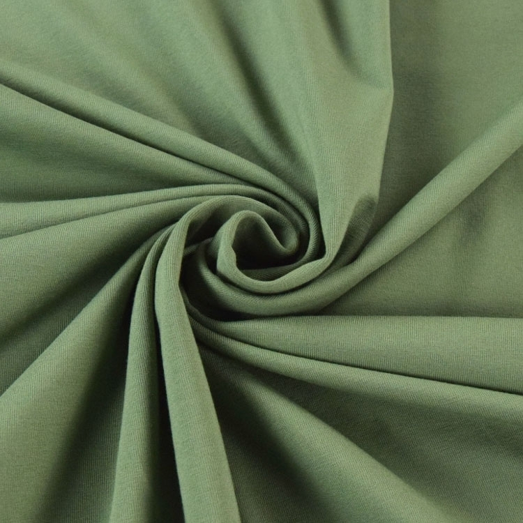Cotton jersey plain, medium green | 124.554-4032 | grün