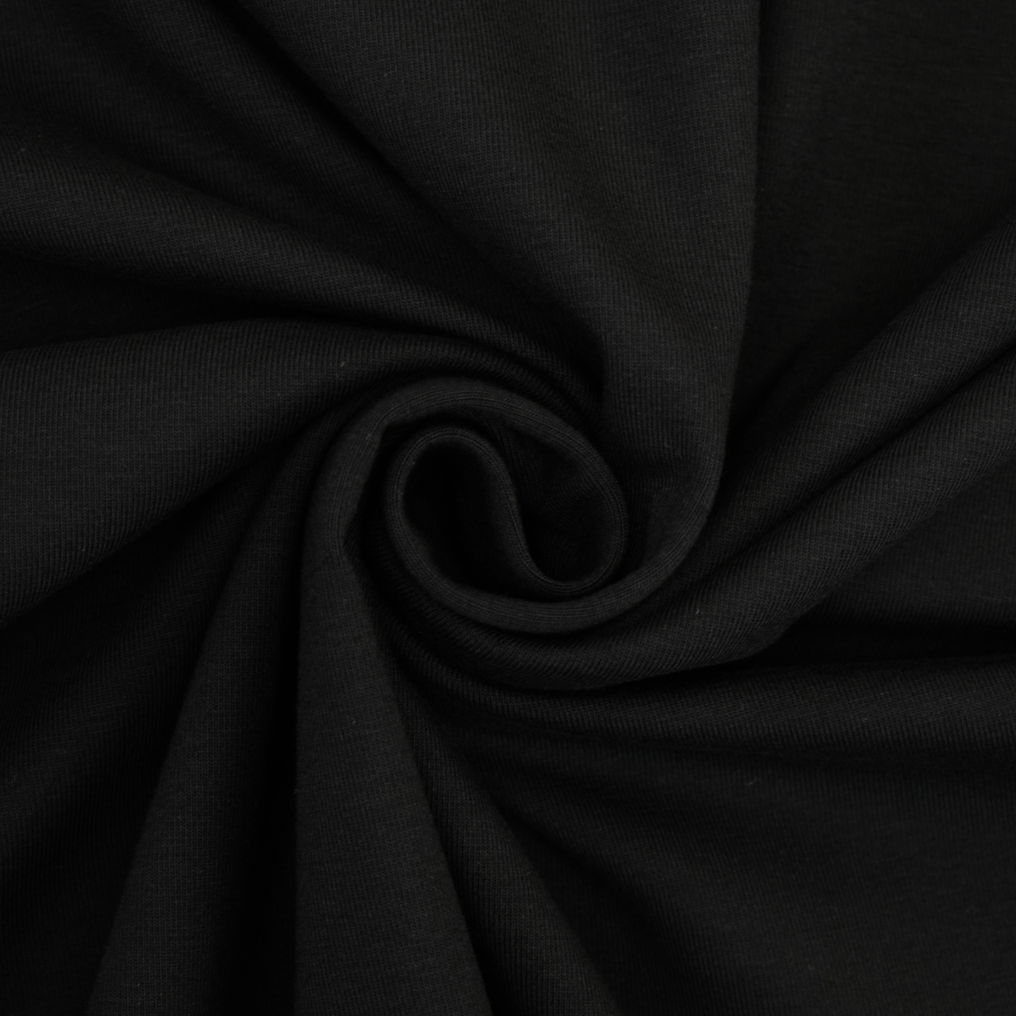 Cotton jersey plain, black | 455.421-1005 | schwarz