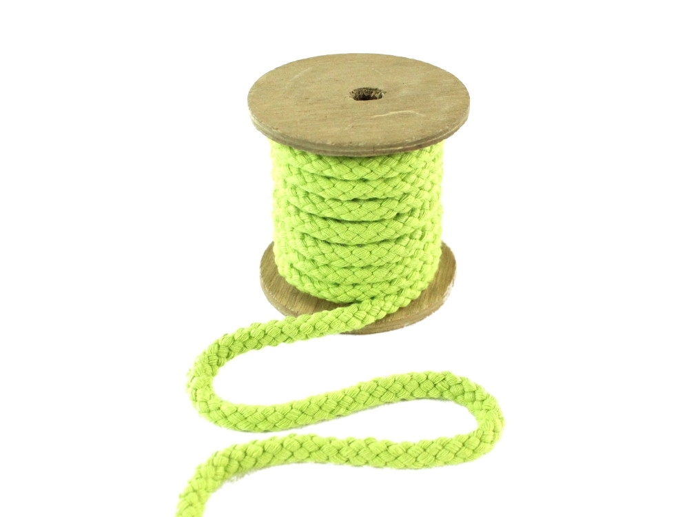Cotton drawstring 8 mm, apple green