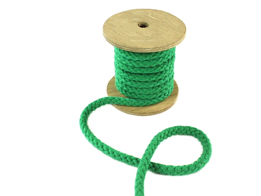 Cotton drawstring 8 mm, green | 022870-433 | grün