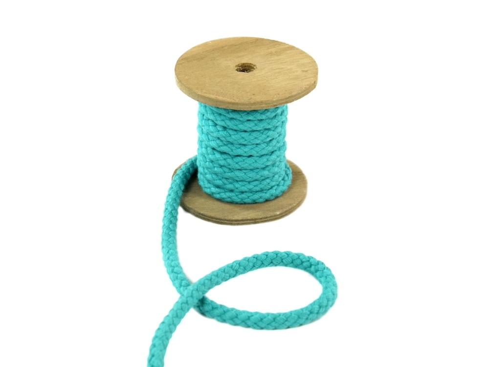 Cotton cord 8 mm, light teal | 022870-325 | petrol
