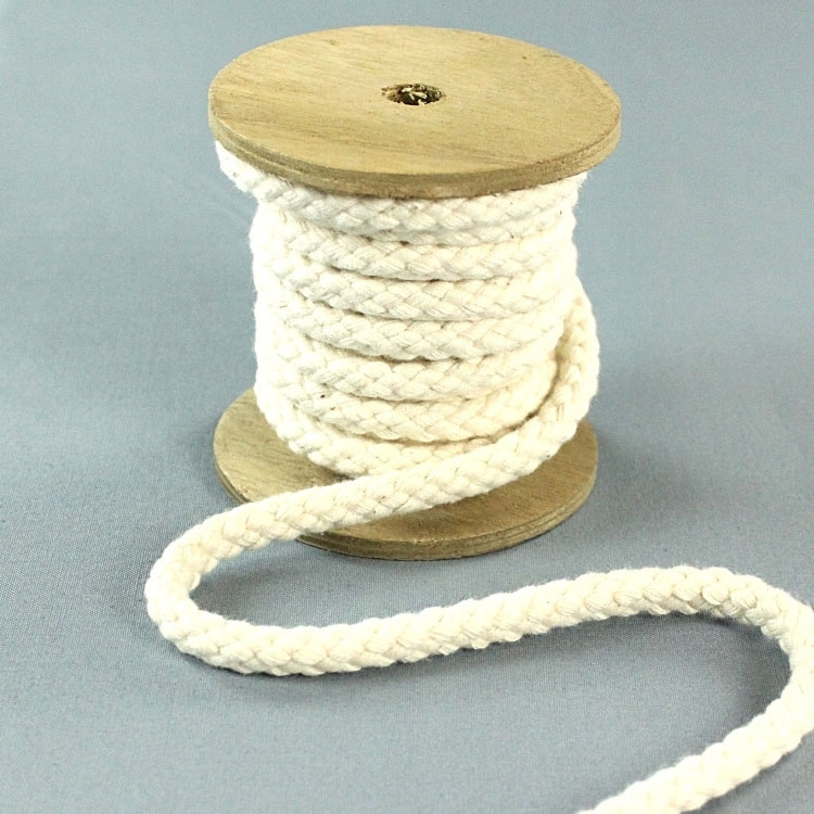 Cotton drawstring 8 mm, natural | 022870-089 | weiss