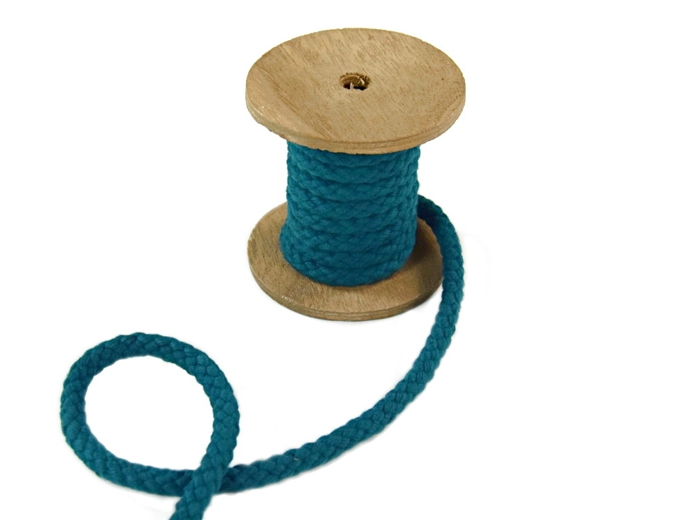 Cotton cord 8 mm, teal | 022870-292 | petrol