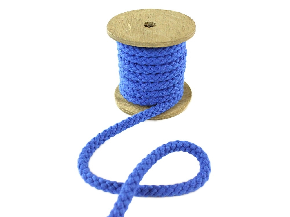 Cotton drawstring 8 mm, royal blue