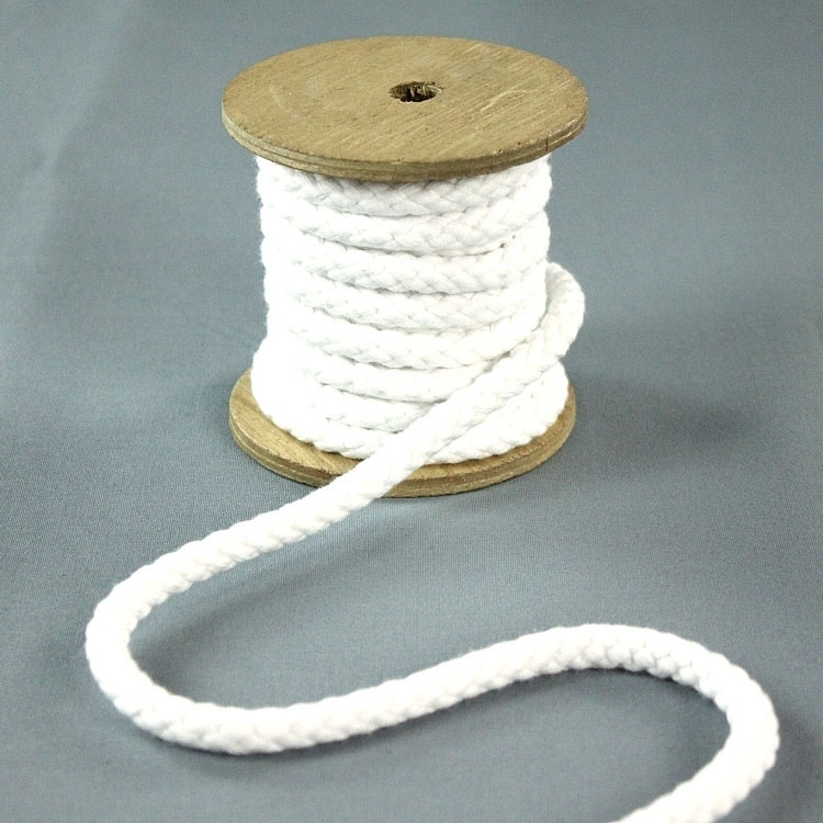 Cotton cord 8 mm, white