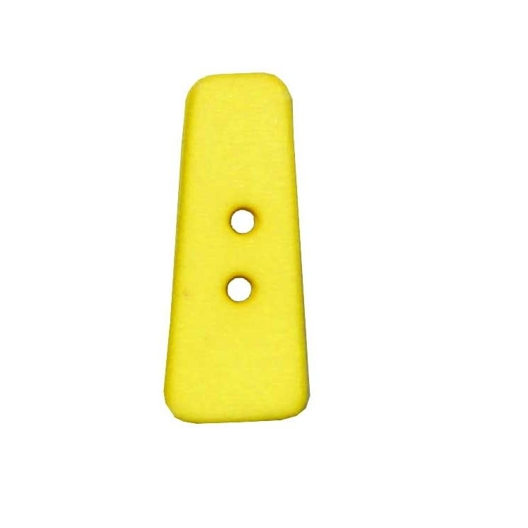 Letter shaped button, I, yellow
