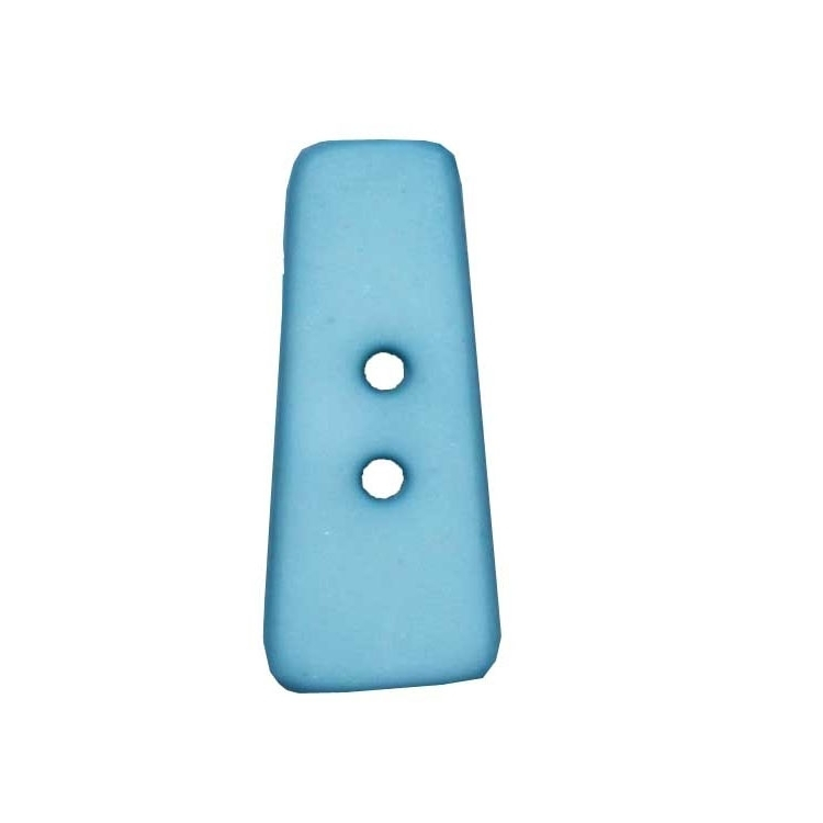 Letter shaped button, I, light blue