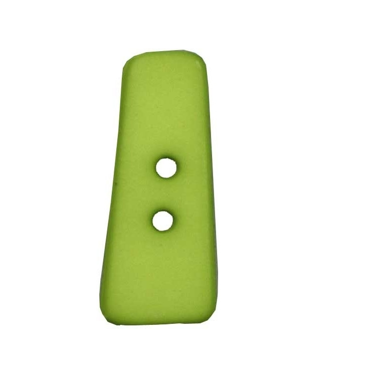 Letter shaped button, I, light green