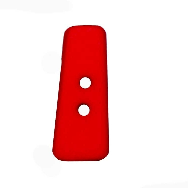 Letter shaped button, I, red