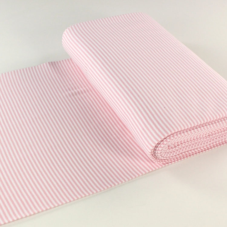 Cuff fabric striped, smooth, pink / white