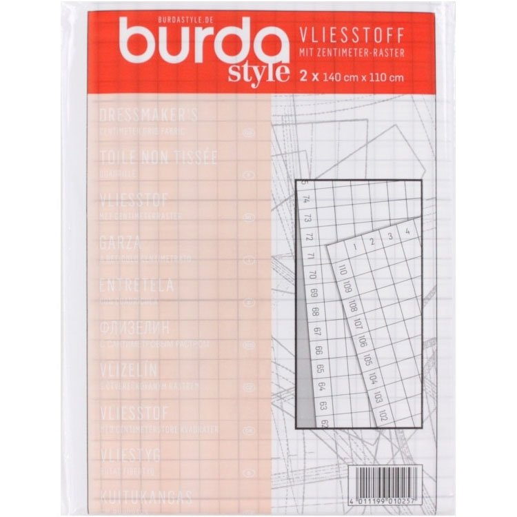 Burda non-woven fabric with grid