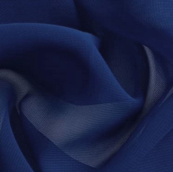 Chiffon donker blauw | stoffen-hemmers.be