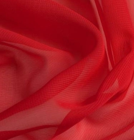 Chiffon rood | stoffen-hemmers.be