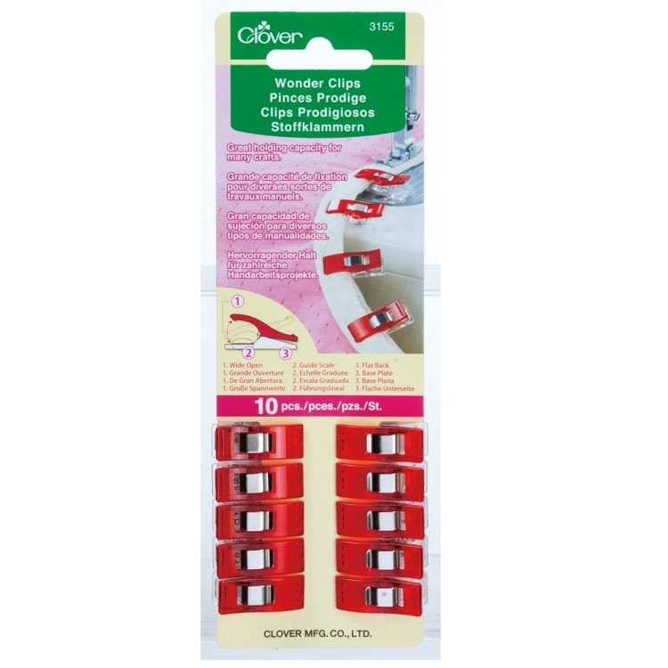 Clover Wonder Clips / Pinces Prodige 10 pcs. Rouge