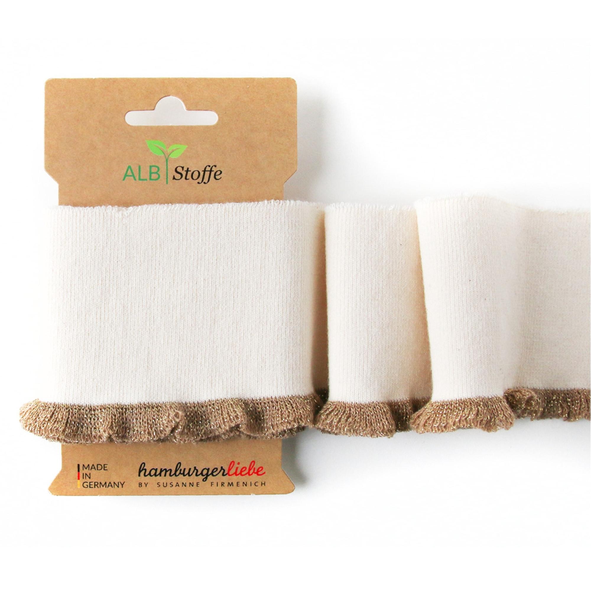 Wollweißes 'Cuff Me' Frill Bio-Baumwoll-Bündchen