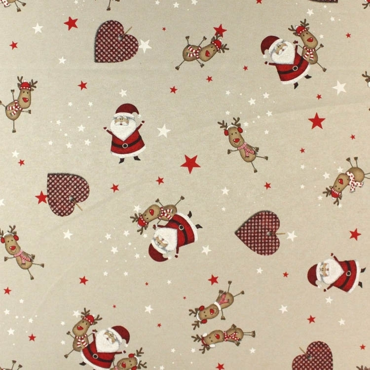 Deco-fabric Christmas Happy Friends